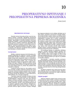 preoperativno ispitivanje i preoperativna priprema