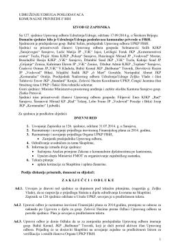 Zapisnik - Udruzenje/udruga poslodavaca komunalne privrede u FBiH