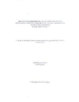 Godisnji izvestaj 2013 - PRO GALVANO Mikrometal