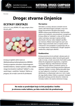 Droge: stvarne činjenice - National Drugs Campaign