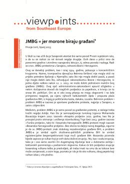JMBG = jer morone biraju građani