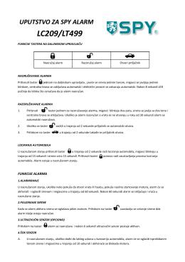 uputstvo za spy alarm lc209/lt499