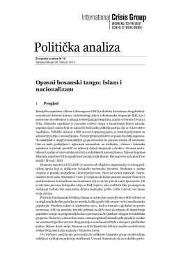 Politička analiza - International Crisis Group