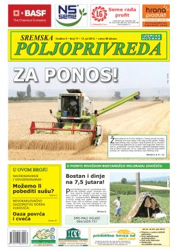 Sremska poljoprivreda broj 19 12. jul 2013.