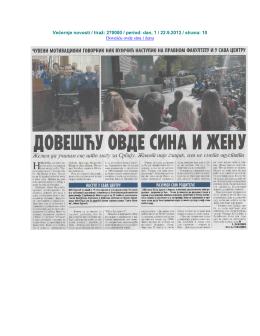 Objave o predavanju Nika Vujičića