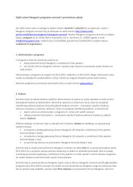 Opšti uslovi Neogenic programa vernosti i promotivne akcije