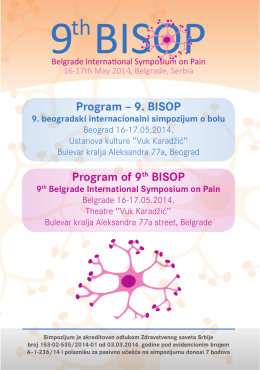 Program – 9. BISOP Program of 9th BISOP