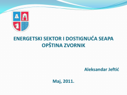 OPŠTINA ZVORNIK - Sustainable Energy BiH