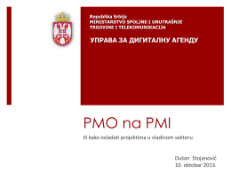 """""""PMO na PMI"""", Uprava za digitalnu agendu Ministarstva spoljne i"""