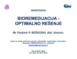 bioremedijacija bioremedijacija - optimalno rešenje