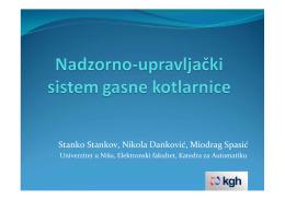 Nadzorno-upravljački sistem gasne kotlarnice