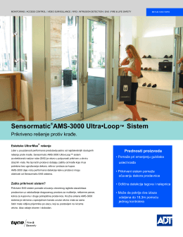 Sensormatic®AMS-3000 Ultra•Loop™ Sistem