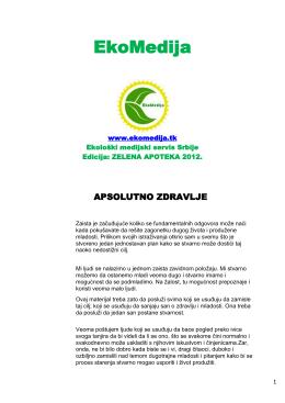 EkoMedija - zelene novine