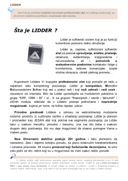 Lidder info booklet