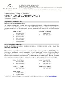 YUBAC KOŠARKAŠKI KAMP 2015