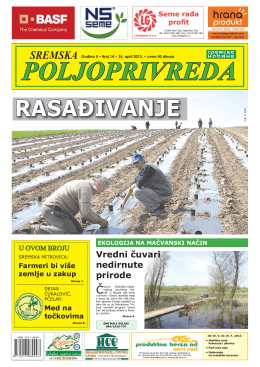 Sremska poljoprivreda broj 14 26. april 2013.