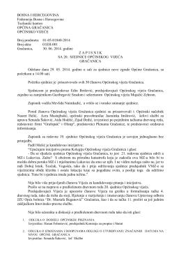 Pregled - Općina Gračanica