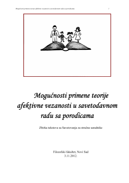 Mogućnosti primene teorije afektivne vezanosti u savetodavnom
