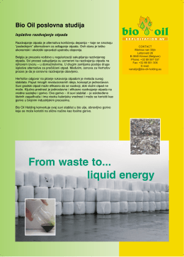 From waste to... liquid energy