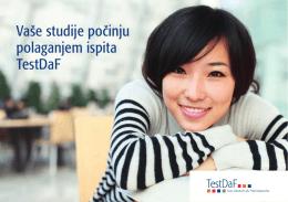 Vaše studije počinju polaganjem ispita TestDaF