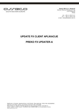 Uputstvo za instalaciju FX Updater