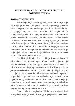 zeolit - efikasni sanator neprijatnih i bolesnih stanja