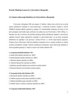Prof.dr.Miodrag Lazarević, Univerzitet u Beogradu 3.2