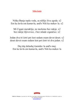 Niška Banja topla voda, za nišlije živa zgoda. x2 Em ka