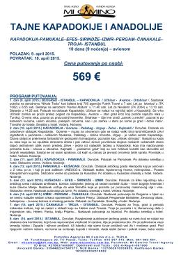 569 € - MiCamino prevoz