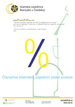 Clanarina Islamskoj zajednici preko poreza