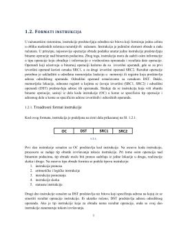 1.2. Formati instrukcija