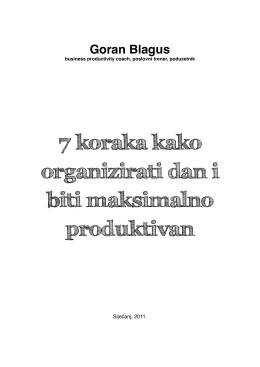7 koraka kako organizirati dan i biti maksimalno produktivan