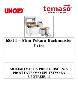 68511 – Mini Pekara Backmaister Extra