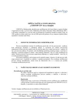 Pregled uslova i odredbi