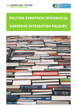 Publikacija: Politike evropskih integracija_BHS and ENG