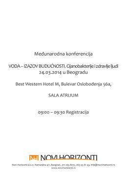 Međunarodna konferencija 24.03.2014 u Beogradu