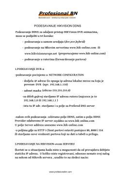 Podešavanje HIKVision DDNS / Srp