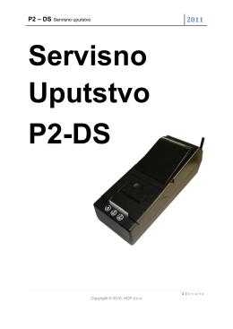 P2 – DS Servisno uputstvo