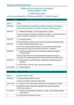 Program nacionalne konferencije ATOME
