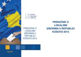 Priručnik o lokalnim izborima u rePublici kosovo 2013