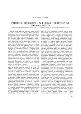 prirodne rijetkosti u nr bosni i hercegovini i njihova zaštita