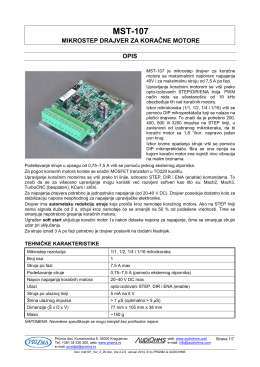 MST-107 Uputstvo za upotrebu