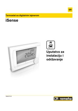 iSense - Uputstvo za instalaciju i održavanje