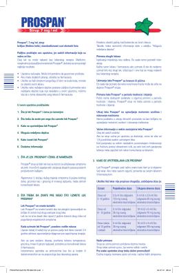 Preuzmite uputstvo za Prospan ® sirup u PDF obliku