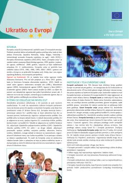 Ukratko o Evropi (PDF, 938KB) - Delegacija Evropske Unije u