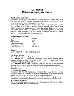 PLATINUM 25 Metalizirana emulzija za podove