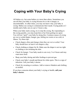 Coping with Your Baby`s Crying - Health Information Translations