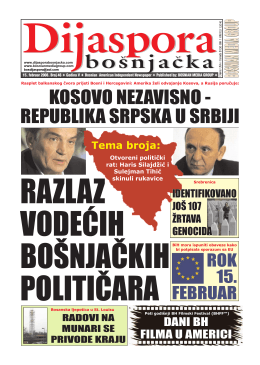 Dijaspora Feb 2008 - Bosnian Media Group