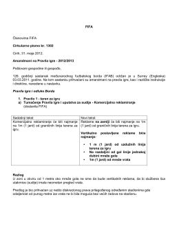 FIFA Članovima FIFA Cirkularno pismo br. 1302 Cirih, 31. maja