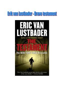 Erik van Lustbader - Bravo testament